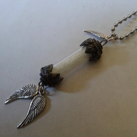 Glow in the Dark Guardian Angel Lamp ~  Rear View Mirror Car Charm
