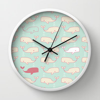 Baby Beluga Wall Clock by Michelle Nilson
