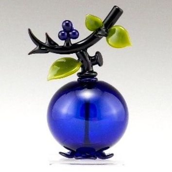 Blueberry Perfume by Garrett Keisling: Art Glass Perfume Bottle | Artful Home