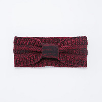 Marled Cable Knit Headwarmer in Wine - Urban Outfitters