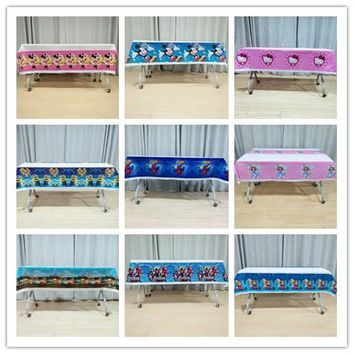 108cm*180cmFrozen Anna And Elsa Lightning Mcqueen Mickey Mouse Minions Sofia Princess Moana Trolls Kid Party Supplies Tablecloth