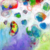 """Abstract Expressionist Art  Colorful Painting """"Listening More Deeply"""""""