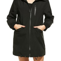Women Lightweight Hooded Jacket Waterproof Windbreaker Rain Coat