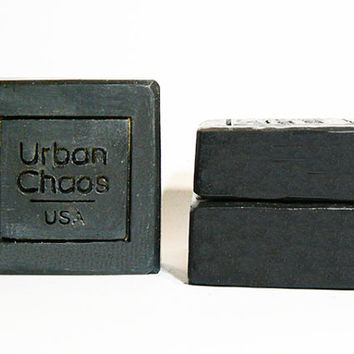Activated Charcoal Soap, Exfoliating Soap, Charcoal Soap, Nut Free for Sensitive Skin, Acne, Eczema, Oily Skin Soap, All Natural Vegan Soap