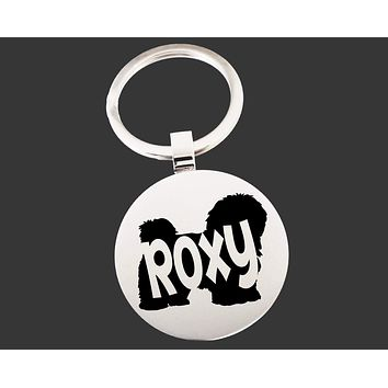 Havanese Dog Keychain | Dog Key Chain | Dog Lover Gifts