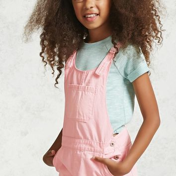 Girls D-Ring Overalls (Kids)