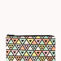 Midsize Pastel Geo Cosmetic Pouch