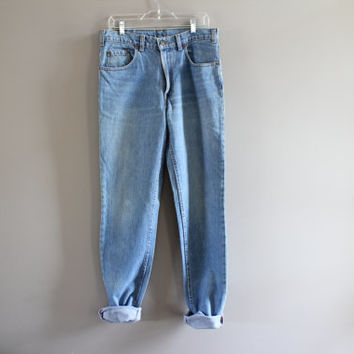Levis 531 Waist 33 Vintage Levi's Jeans High Waist Zip Fly Slim Fit Skinny Light Washed Denim Mom Jeans Boyfriend Jeans Hipster 34X36 #P007A