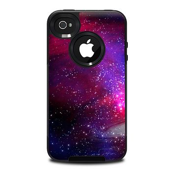 The Vivid Pink Galaxy Lights Skin for the iPhone 4-4s OtterBox Commuter Case