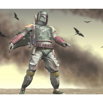 Awesome Star Wars Mouse Pad Boba Fett Wind Storm