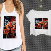Spiderman Logo For Woman Tank Top , Man Tank Top / Crop Shirt, Sexy Shirt,Cropped Shirt,Crop Tshirt Women,Crop Shirt Women S, M, L, XL, 2XL**