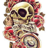 Body Art Sexy Skull Tattoo 3D Waterproof Temporary Tattoo
