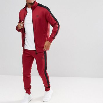 Puma Archive T7 Track Jacket In Red 57331209 at asos.com