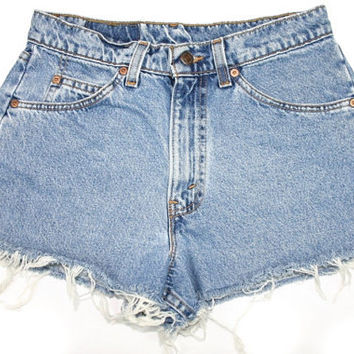 High Waist shorts Distressed Cut off Shorts/All Sizes/Made to Order/Sizes S-XXL/Vintage Shorts/Frayed Edges/cuffed