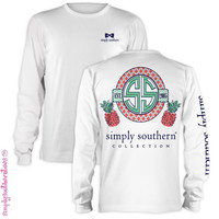 Simply Southern Collection Est 2005 Pineapple Girlie Bright Long Sleeve T Shirt