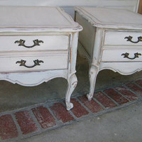 Vintage French Provincial Side Tables / Nightstands