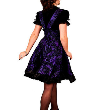 Gothic Lolita Dress Steampunk Bridesmaids Purple Jumper -Custom to your size