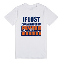IF LOST PLEASE RETURN TO PEYTON MANNING