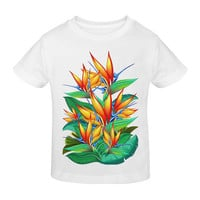 Bird of Paradise Flower Exotic Nature Sunny Youth T-shirt | ID: D1098378