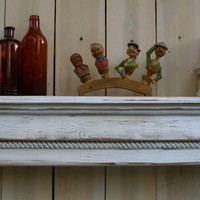 Wooden Mantel - Floating Wall Shelf - Wooden Furniture - Shabby Furniture - Chic - 40 Inches