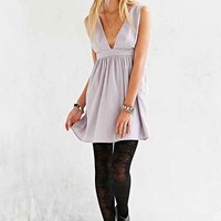 Oh My Love Lilac Plunging Skater Dress- Lilac