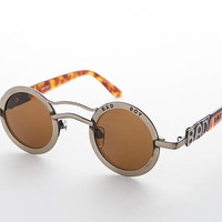 Round Circle Rare Unique Bad Boy Vintage Sunglasses - Dean