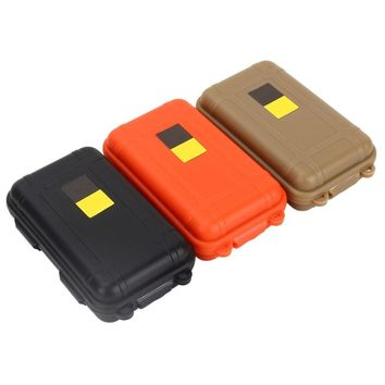 Large/Small Portable Waterproof Box Shockproof Outdoor Airtight Storage Case Survival Tool Container Anti Pressure Carry Box