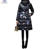 2017 New Winter Women Coat Fashion Thick Down Cotton Jacket Fashion Warm Cotton Jacket Plus Size M-5XL TNLNZHYN E255
