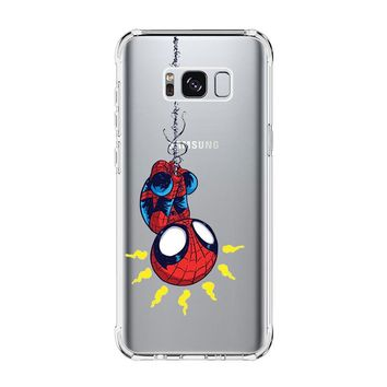 AMAZING SPIDERMAN CUTE Samsung Galaxy S4 S5 S6 S7 Edge Clear Case