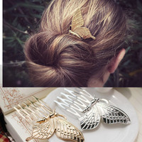 Butterfly Stylish Simple Design Hair Accessories Brush [10689010119]
