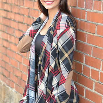 Wrapped in Plaid Cardigan