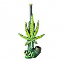420 Leaf Wood Pipe 6.5""