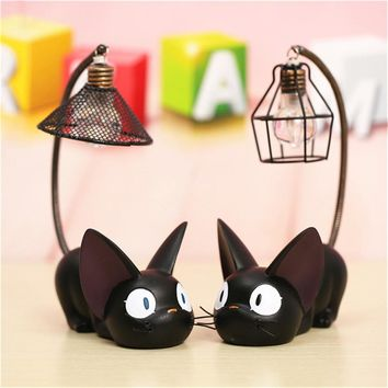 E-SMAETER Night Light LED Gigi Cat Desk Night Lamp Small Cats Toy Dry Battery For Home Decoration Of Child Gift Cats Night Light