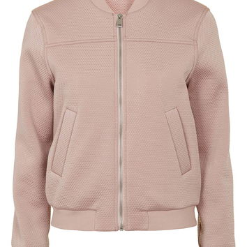Punch-Textured Bomber Jacket - New In This Week - New In
