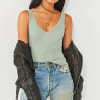UO Leon Deep V-Neck Tank Top | Urban Outfitters Canada