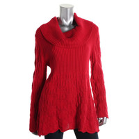 Style & Co. Womens Knit Cowl Neck Pullover Sweater