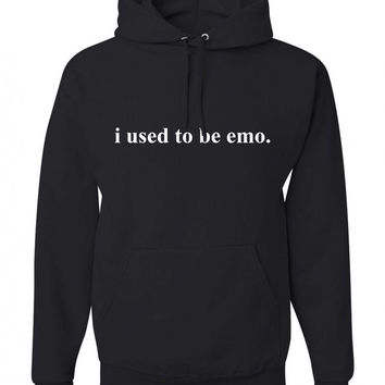 """i used to be emo."" Unisex Adult Hoodie Sweatshirt"