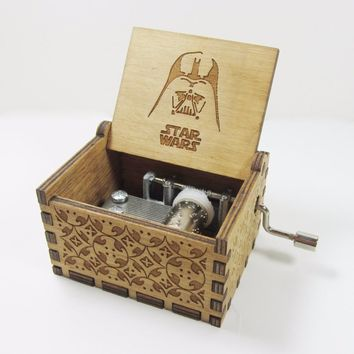 Star Wars Force Episode 1 2 3 4 5 Antique carved wooden  music box, Christmas gift, new year gift, birthday gift   AT_72_6