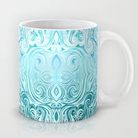 Twists & Turns in Turquoise & Teal Mug by Micklyn