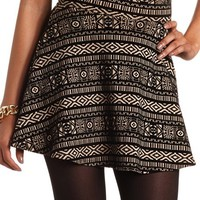 VELVET TRIBAL SKATER SKIRT