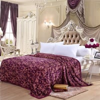 High Density Super Soft Flannel Blanket to on for the sofa bed textile cute plush Package edge technology Pattern bright colors