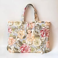 "Womens Laptop Bag, Ladies Laptop Handbag, Mac Book Air 13 Tote, Padded MacBook 13 Tote, MacBook 13 "" Handbag, Floral Laptop Tote Carrier Bag"