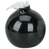 Olymstore(TM) Fashion Round Bomb Shape Toilet Paper Pot Holder Tissue Box Cover (Black)