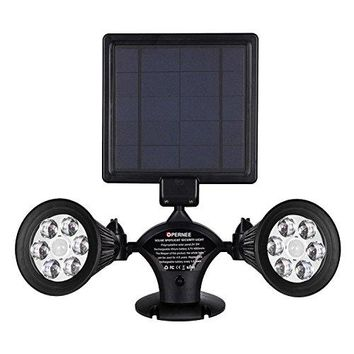 Solar Lights Motion Sensor Outdoor,  Upgraded Double Spotlights 12 LED Solar Powered Dual head 360 Degree Rotatable Security Light for Patio Porch Deck Yard Garden Garage Driveway Outsides Wall