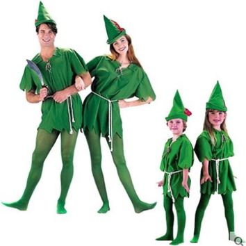 Cool Cosplay Peter Pan Costume Child Kids Cartoon Movie Costume Sexy Women Girls Boys Peter Pan Costume T29131AT_93_12