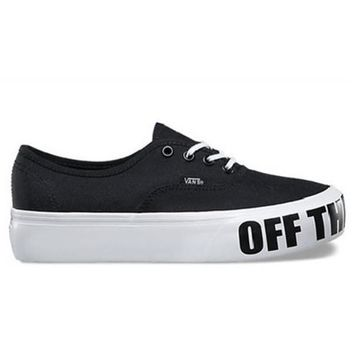 VANS AUTHENTIC PLATFORM OFF THE WALL - BLACK