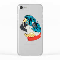 Wonder Pug Clear iPhone Case by lostanaw