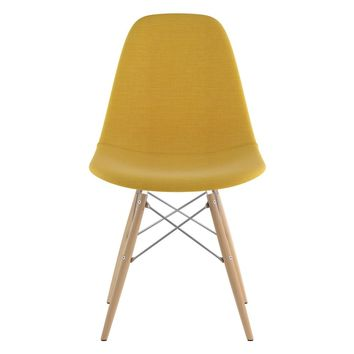 Mid Century Dowel Side Chair Papaya Yellow