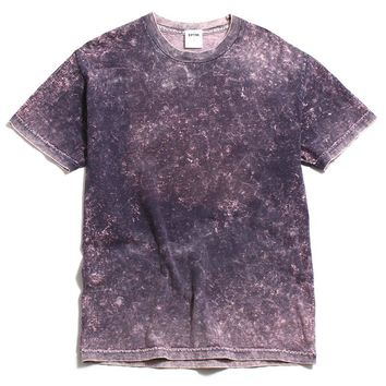 Mineral Wash Box T-Shirt Purple