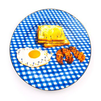 Seletti Wears Toiletpaper Breakfast - Decorative Plate - DESIGN+ART Seletti Wears Toiletpaper online on YOOX - 58039697FU